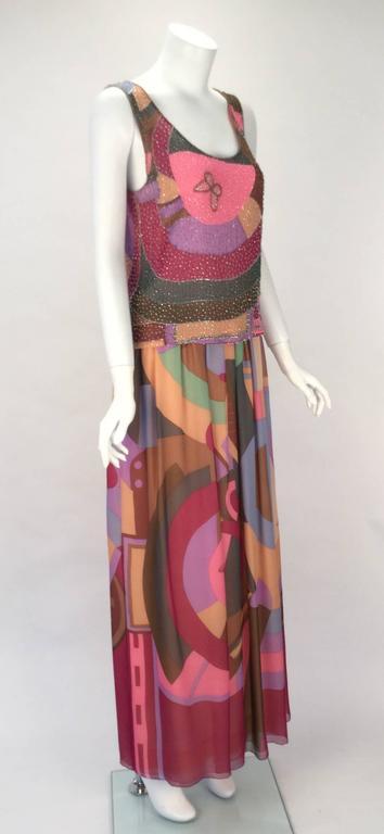 80s Hanae Mori Silk Multicolored Butterfly Print Three Piece Skirt Ensemble 3