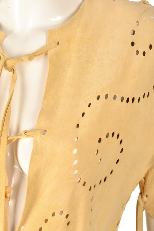 Authentic Vintage Native American Deer Skin Dress In Good Condition For Sale In Houston, TX
