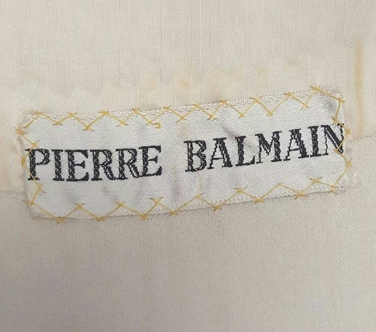 1970's Pierre Balmain Gold Sequined Blouse 5