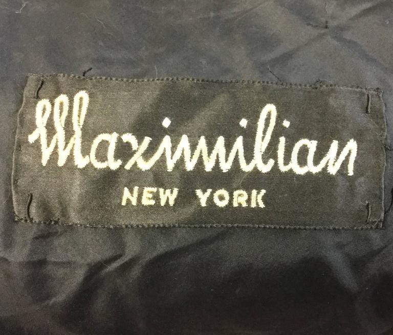 1950s Maximillian Horizontally Striped Mink Coat For Sale 2