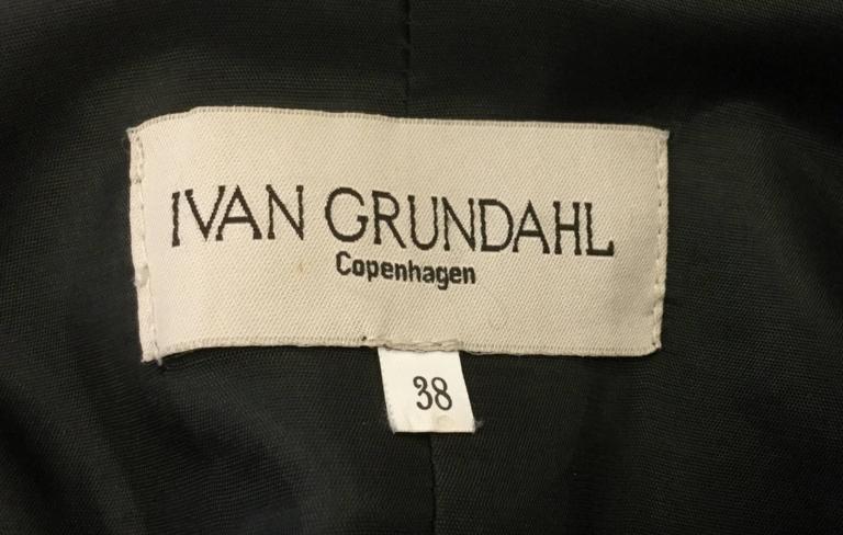 Ivan Grundahal Black Wool Large Collar Coat For Sale 5