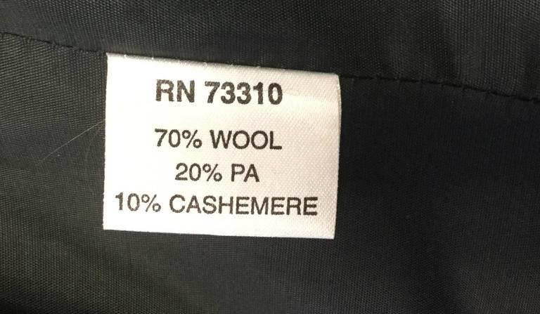 Ivan Grundahal Black Wool Large Collar Coat For Sale 6