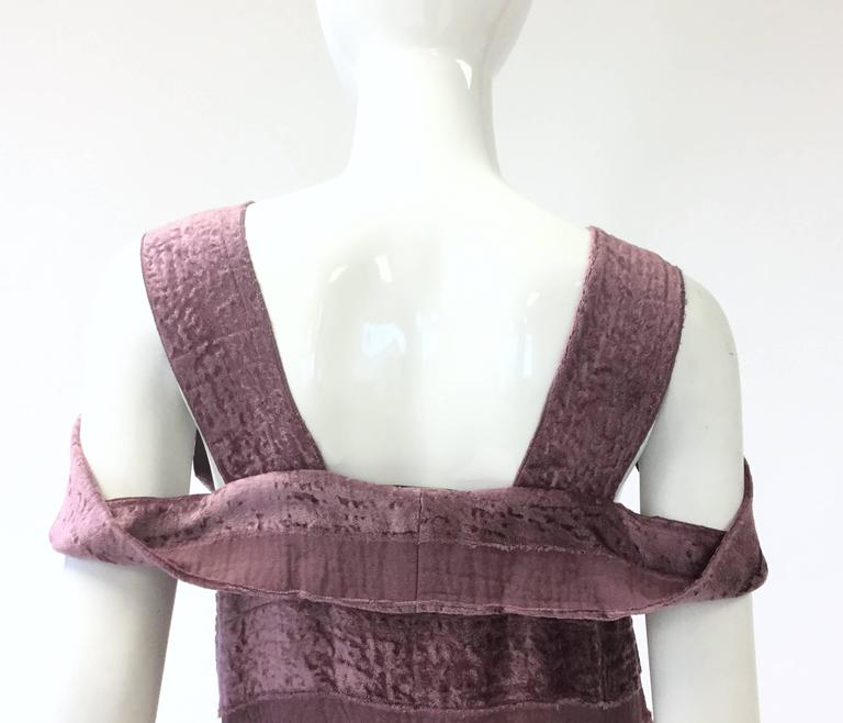 Women's Vintage Bottega Veneta Italian Violet Velvet Dress For Sale