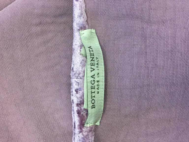 Vintage Bottega Veneta Italian Violet Velvet Dress For Sale 3