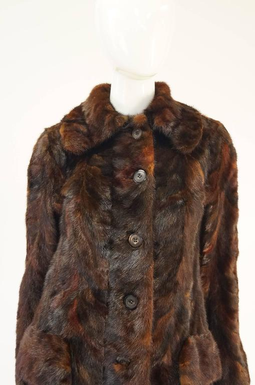 1980's Oscar de la Renta Multi Hued Brown Sable Fur Coat 4