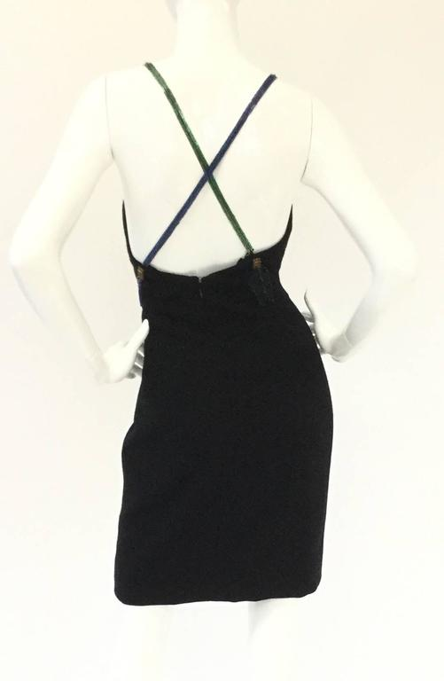 Fantastic 1980s Bob Mackie Arrows of Love Mini Dress In Excellent Condition For Sale In Houston, TX