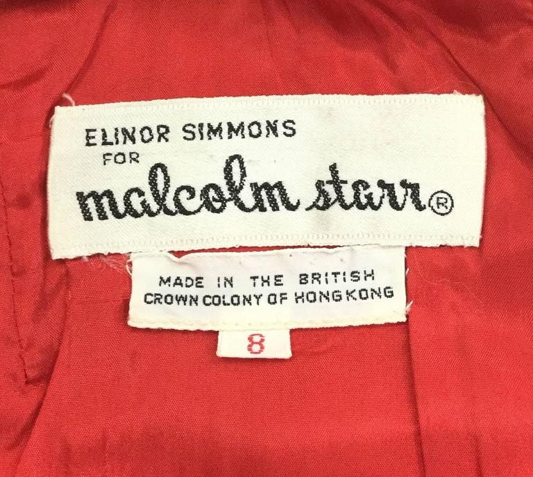 Elinor Simmons for Malcolm Starr Evening Gown, 1970s  For Sale 2