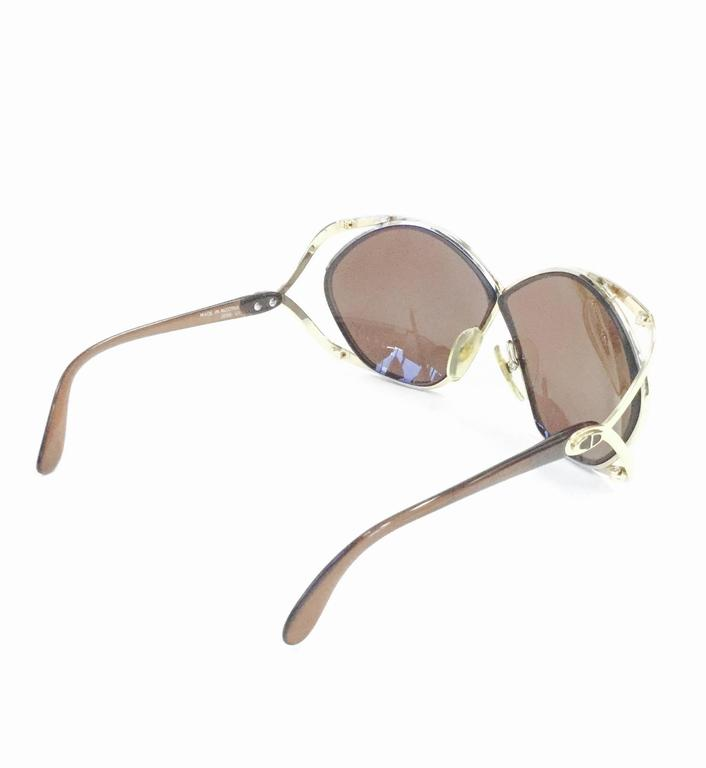 Women's Christian Dior Butterfly Sunglasses Model 2056, 1980s  For Sale