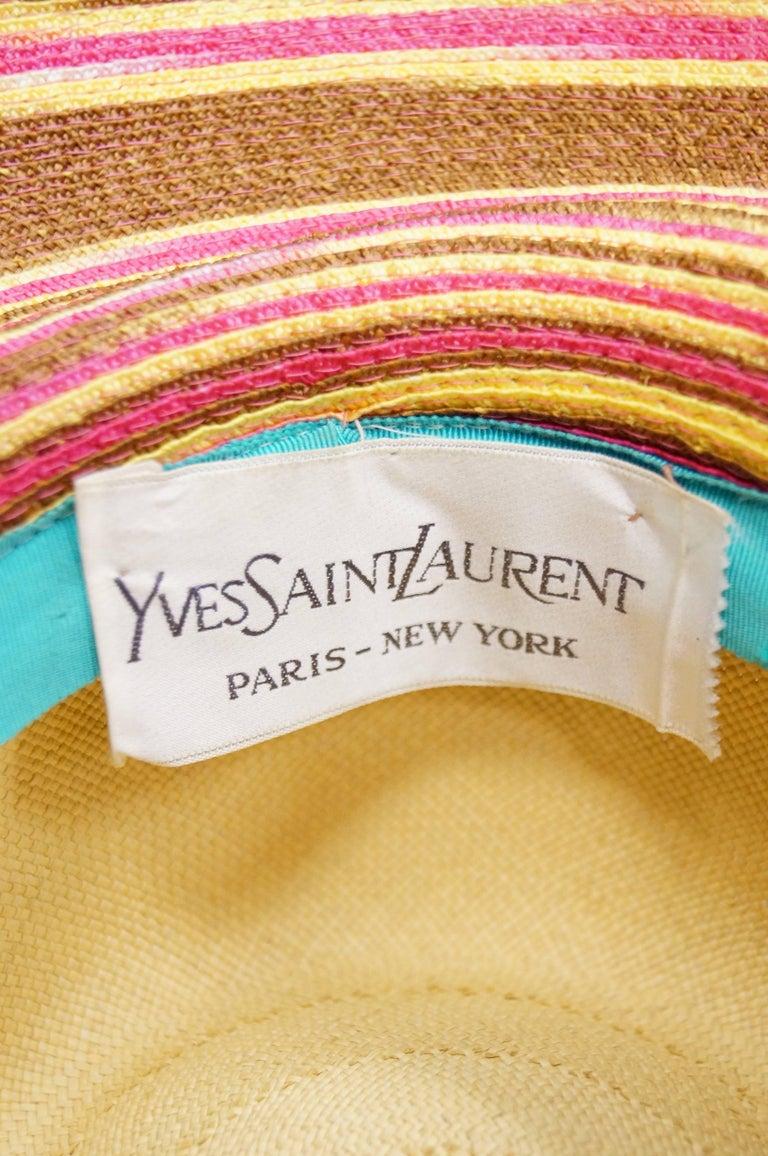 Yves Saint Laurent Colorful Tassel Sun Hat, S 1970s  For Sale 2