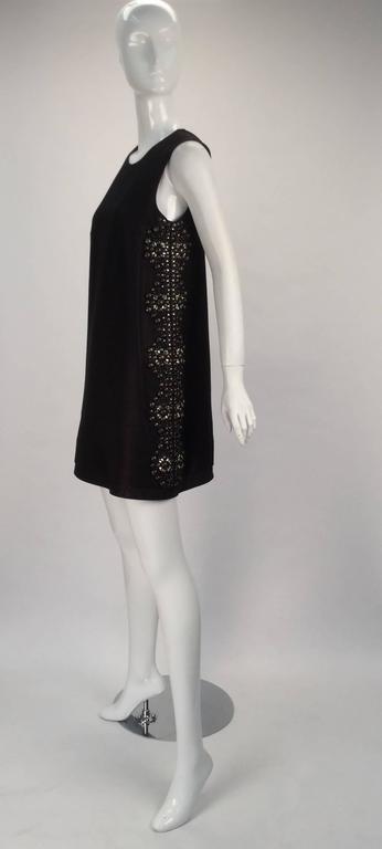 21st Century Black Studded Gucci Dress  In Excellent Condition For Sale In Houston, TX