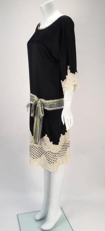 Black Geoffrey Beene Kimono Sleeve Shift Dress For Sale