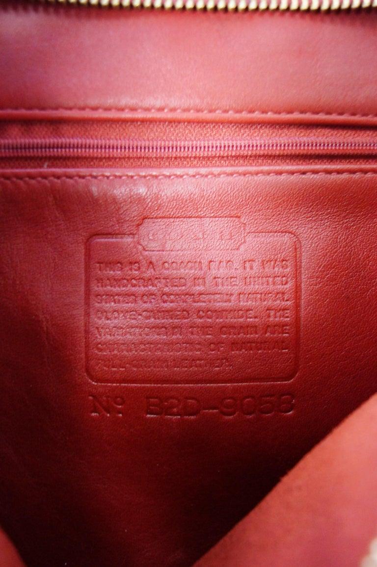 Bonnie Cashin Coach Tomato Red Shoulder Bag, 1970s  For Sale 5