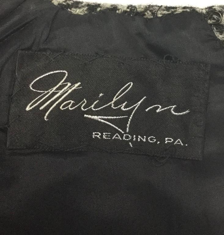 1950s Christian Dior Houndstooth Designer Cape and Dress Set For Sale 1