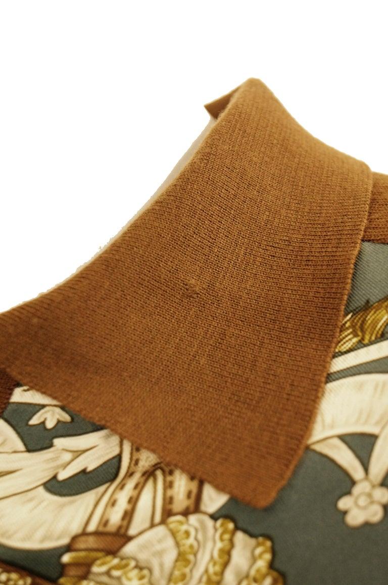 "1987 Hermes ""Bride De Cour""  Tassel Silk Scarf Cashmere Sweater  For Sale 8"
