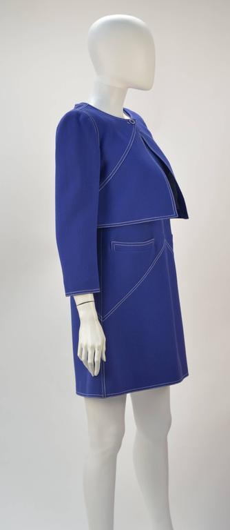 1960s Courreges Wool Ensemble, Euro Size 38 5