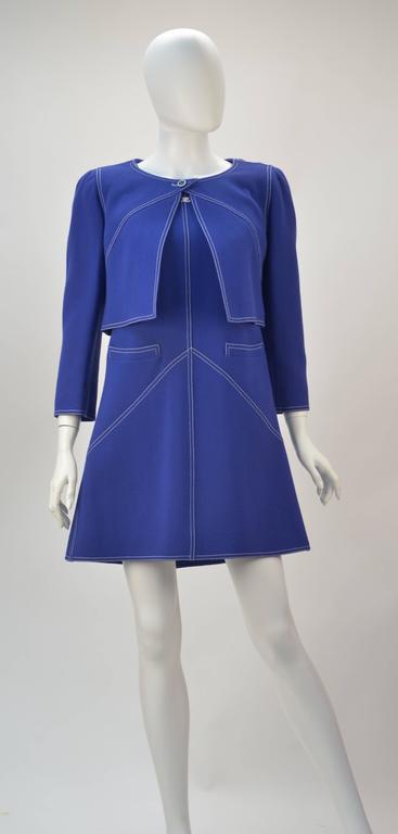 1960s Courreges Wool Ensemble, Euro Size 38 2