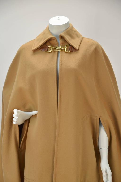 1970s Classic Celine Tan Wool Cape For Sale At 1stdibs