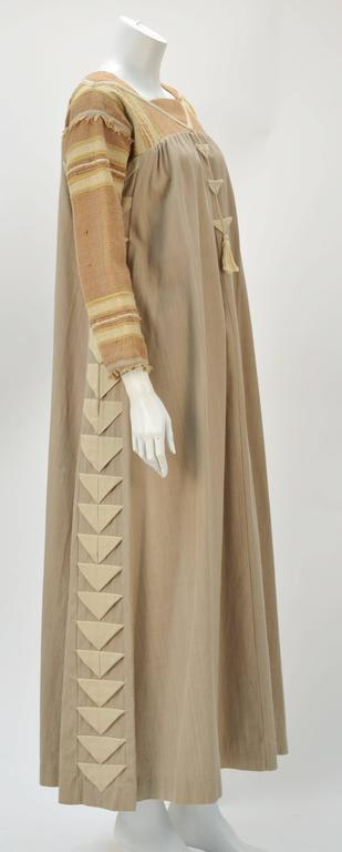1970s Opus 1 By Diana Martin Tan and Brown Kaftan 2