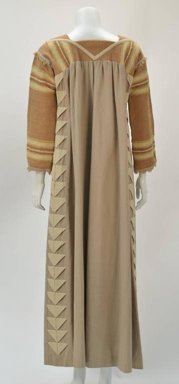 1970s Opus 1 By Diana Martin Tan and Brown Kaftan 3