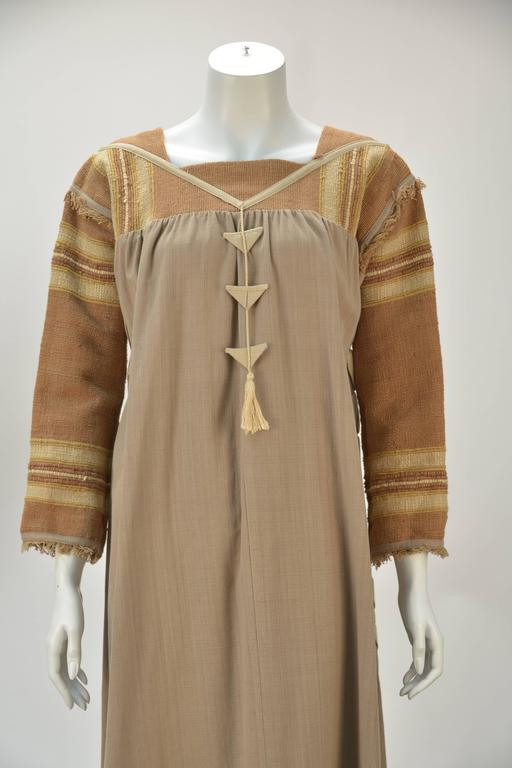 1970s Opus 1 By Diana Martin Tan and Brown Kaftan 4