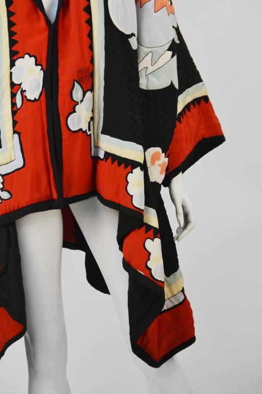 Michaele Vollbracht Quilted Silk Kimono/Jacket, 1980s   In Excellent Condition For Sale In Houston, TX