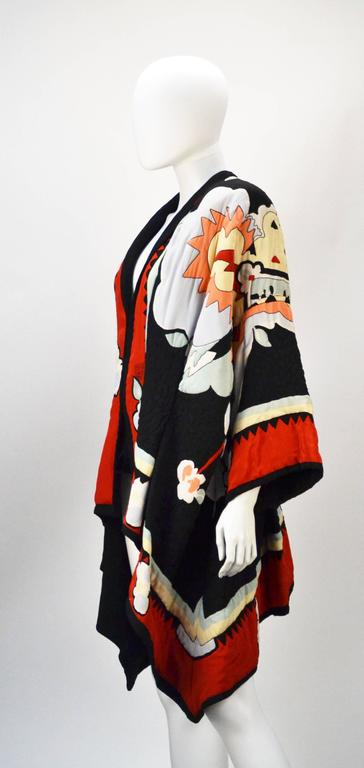 Michaele Vollbracht Quilted Silk Kimono/Jacket, 1980s   2