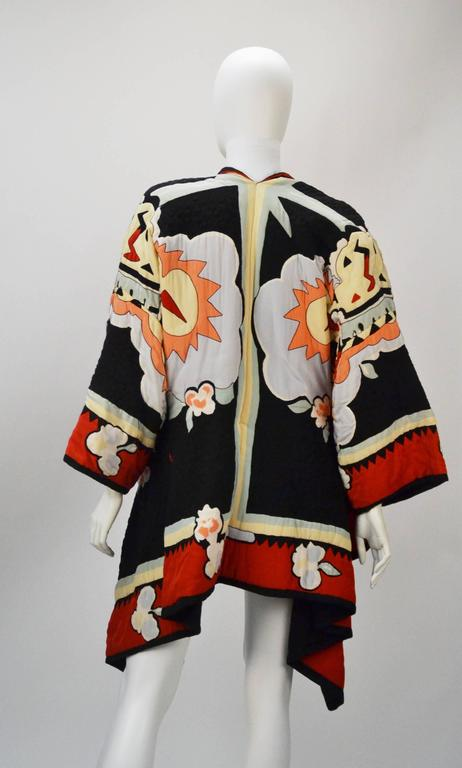 Michaele Vollbracht Quilted Silk Kimono/Jacket, 1980s   3