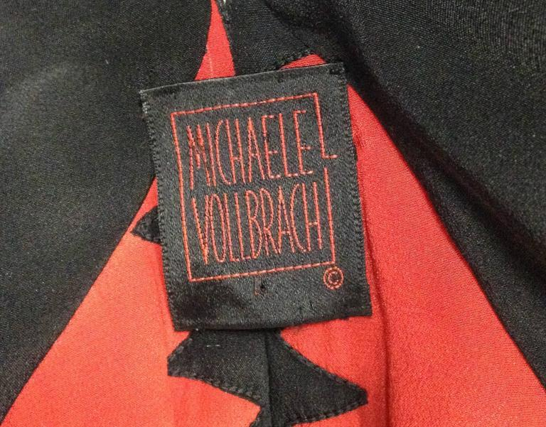 Michaele Vollbracht Quilted Silk Kimono/Jacket, 1980s   For Sale 1