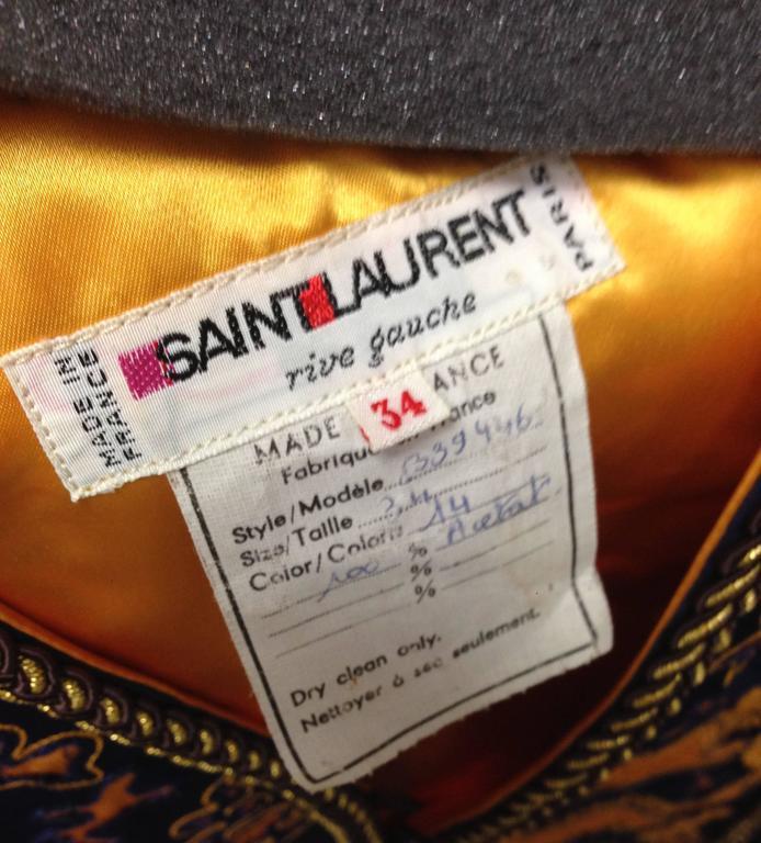 1960s Saint Laurent Rive Gauche Dragon Print Vest  6