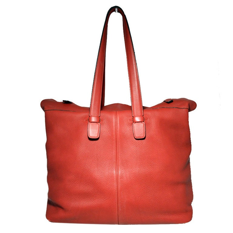 replica hermes kelly bag - Hermes Rouge Clemence Leather XL Shoulder Bag Travel Tote For Sale ...