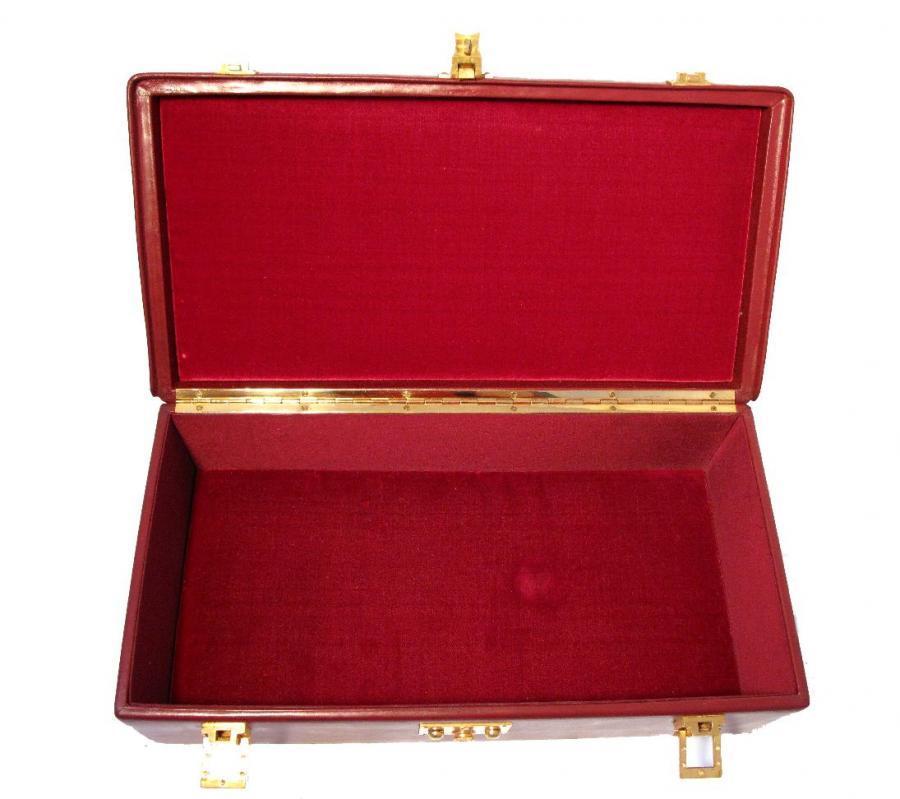 Hermes Rare Vintage Rouge Sac Mallette Handbag 7