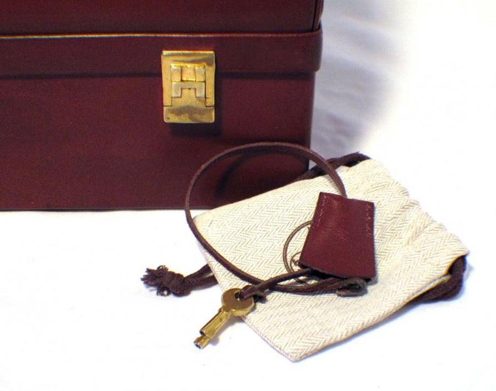 Hermes Rare Vintage Rouge Sac Mallette Handbag 10
