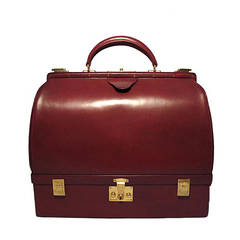 Hermes Vintage Rouge Sac Mallette Handbag