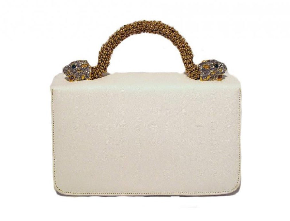 Kenneth Lane For Rosenfeld Vintage White Sharkskin Evening Bag 4
