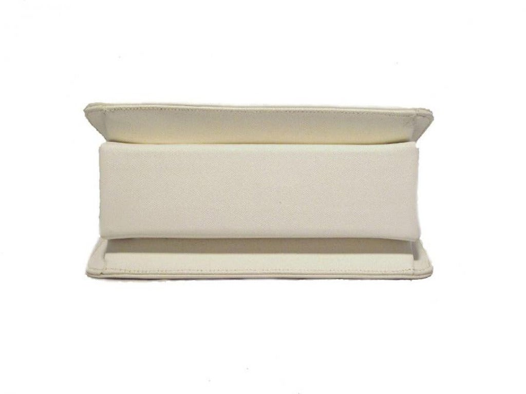 Kenneth Lane For Rosenfeld Vintage White Sharkskin Evening Bag 3