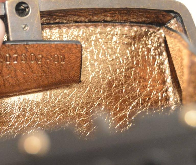 Gucci Studded Gunmetal Knights Armor Heart Box Handbag RUNWAY For Sale 6