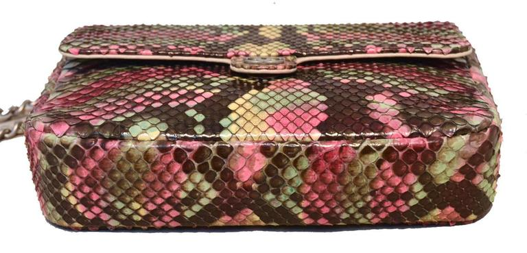 Chanel Multi Color Python Snakeskin Mini Classic Flap Shoulder Bag 4