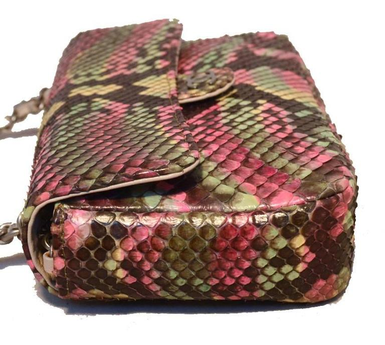 Chanel Multi Color Python Snakeskin Mini Classic Flap Shoulder Bag 3