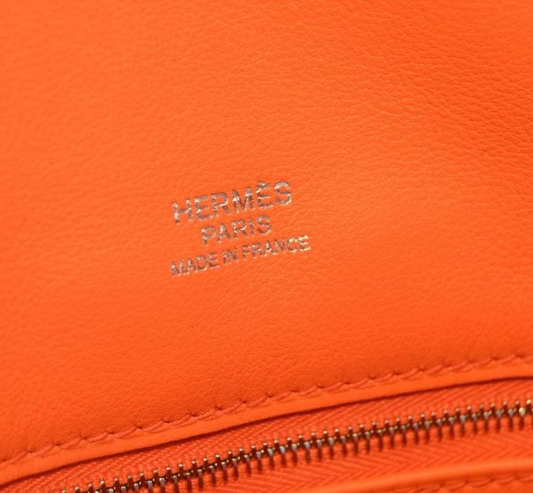 Hermes Orange Suede and Swift Leather Berline Bag-RARE 9