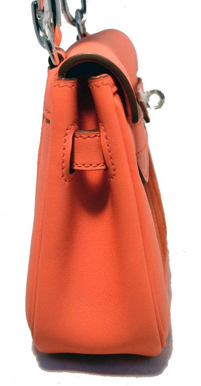 Hermes Orange Suede and Swift Leather Berline Bag-RARE 6