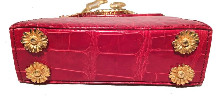 Escada Vintage Red Alligator Mini Evening Bag  6