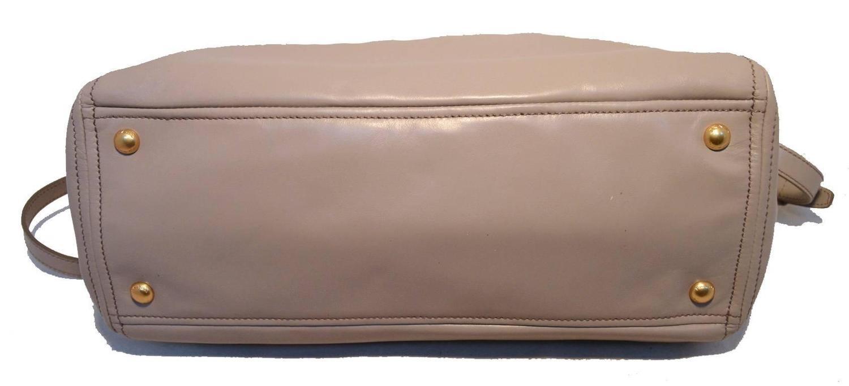 Prada Grey Leather Shoulder Shopping Bag Tote For Sale at 1stdibs