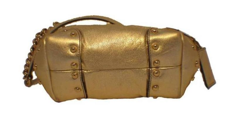 Dolce and Gabbana Gold Shoulder Bag 3