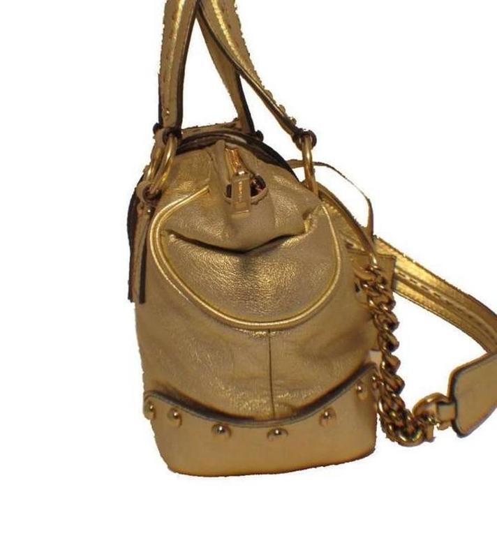 Dolce and Gabbana Gold Shoulder Bag 4