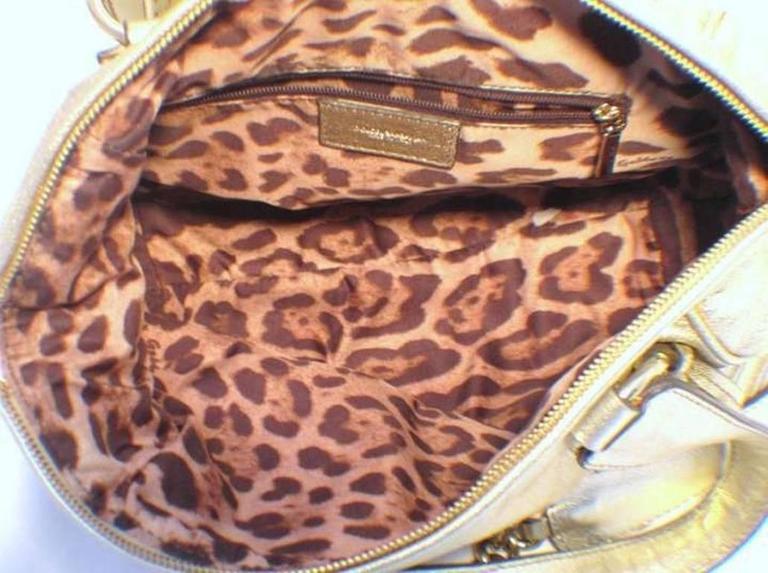 Dolce and Gabbana Gold Shoulder Bag 5