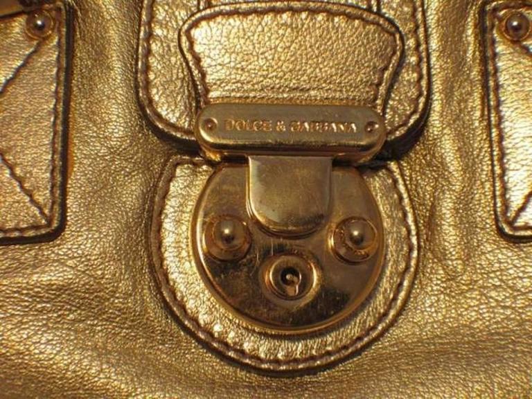 Dolce and Gabbana Gold Shoulder Bag 6