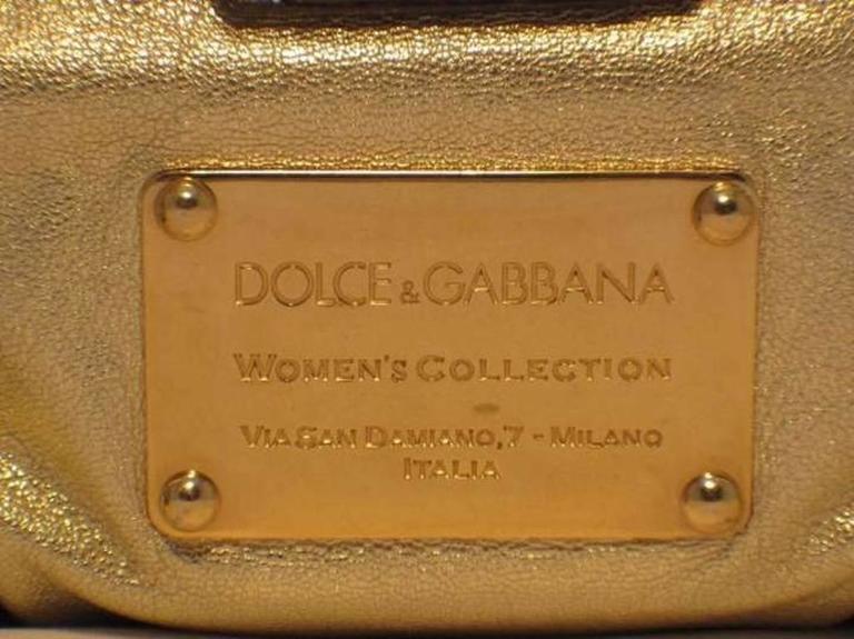 Dolce and Gabbana Gold Shoulder Bag 7