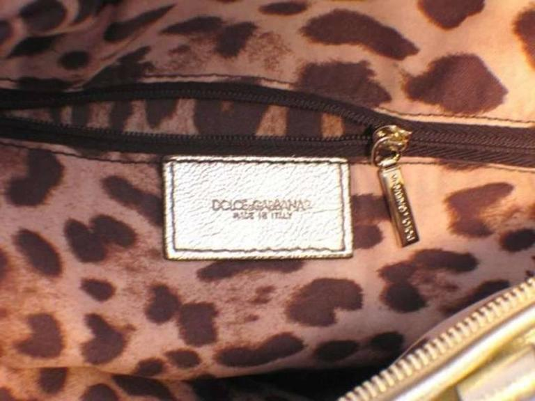 Dolce and Gabbana Gold Shoulder Bag 8