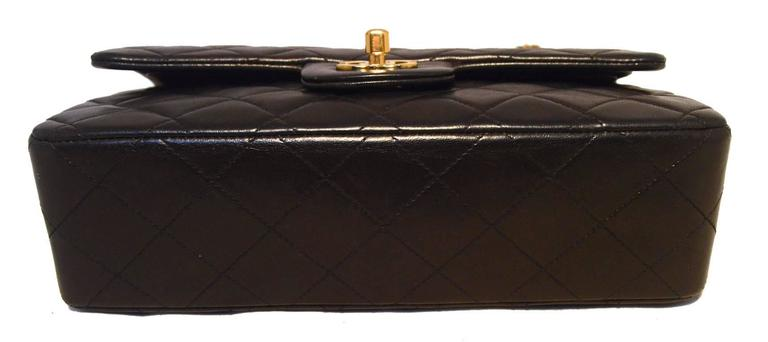 "Chanel Black Brown Quilted Leather 9"" Double Flap Classic 2.55 For Sale 1"