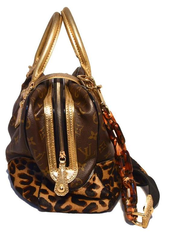 27d02b5ce293 Brown RARE Limited Edition Louis Vuitton Monogram   Leopard Pony Hair Adele  Bag For Sale
